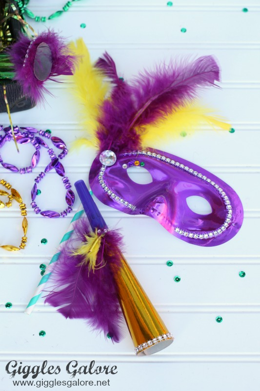 DIY Mardi Gras Mask and Party Horn