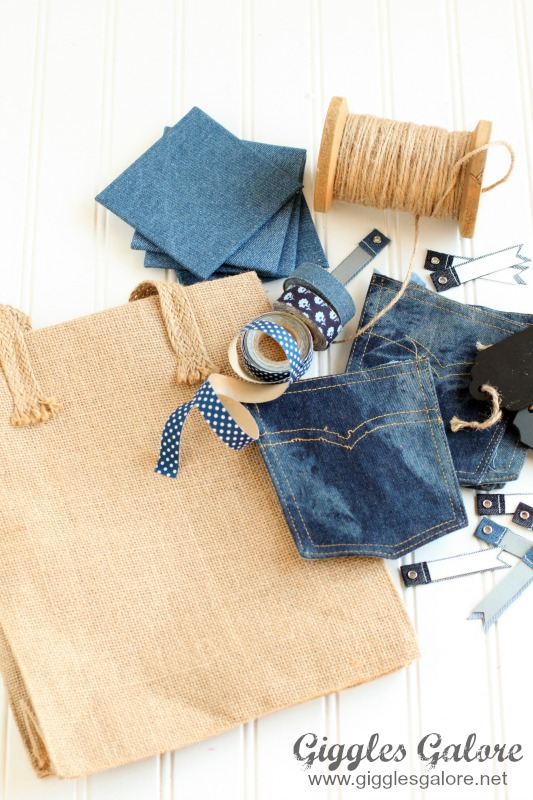 Denim Pocket Gift Bag Supplies