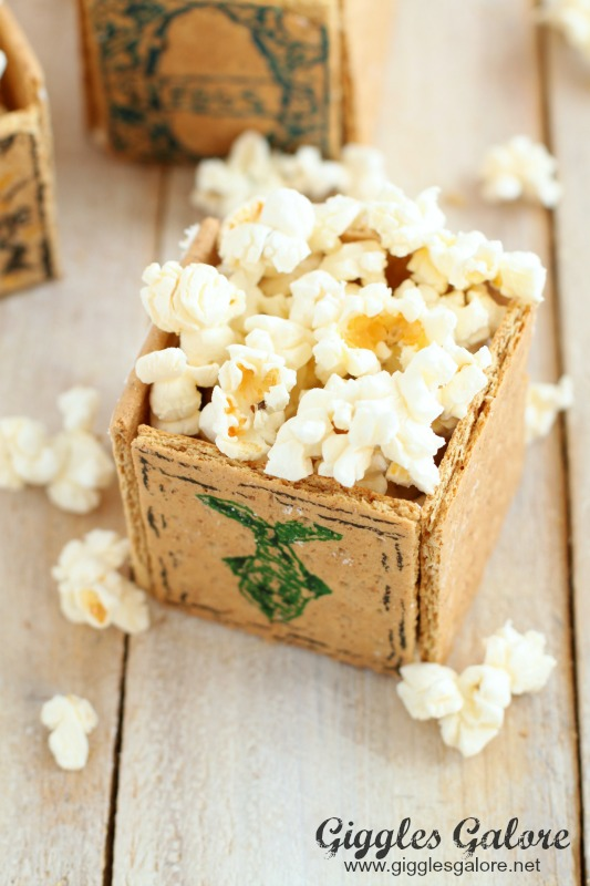 Edible Popcorn Box with Pop Secret Popcorn