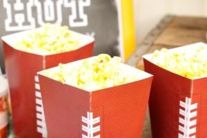 Football Popcorn Cups