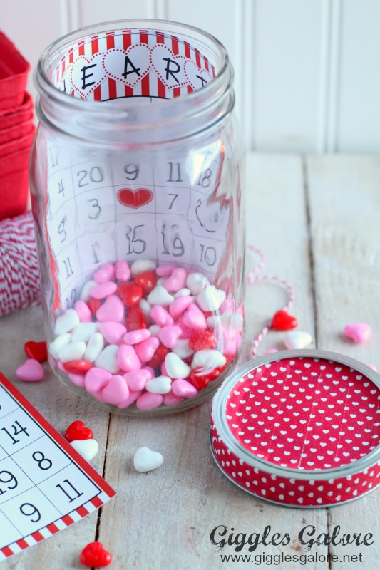 Heart Bingo in a Jar