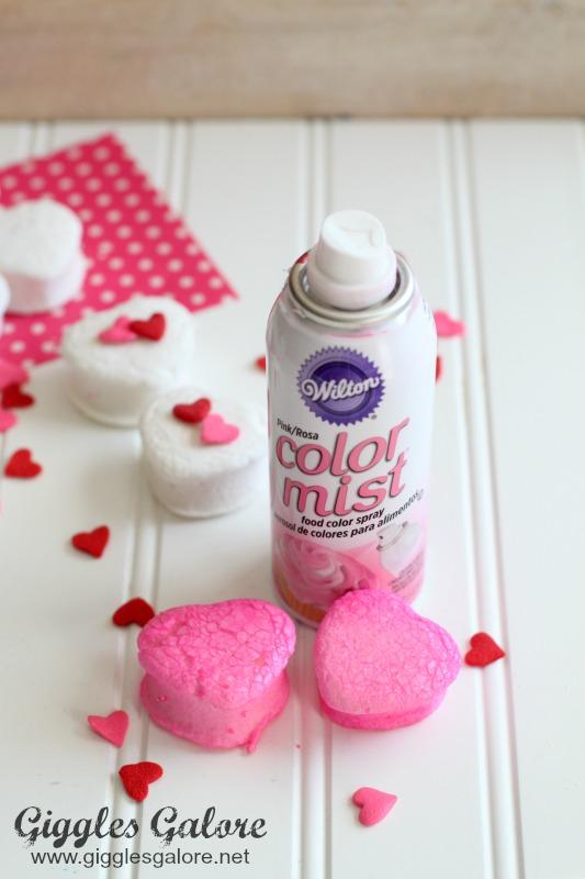 Spray Painted Marshmallows