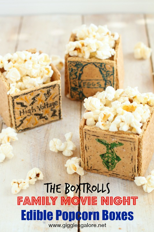 The Boxtrolls Family Movie Night Edible Popcorn Boxes_Giggles Galore