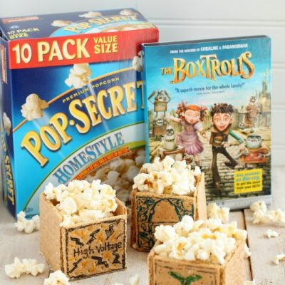 The Boxtrolls Movie Night and Edible Popcorn Boxes