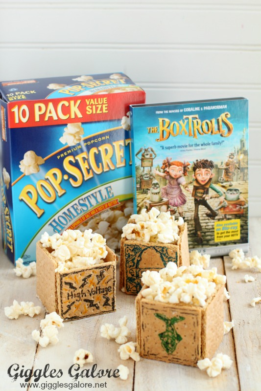 The Boxtrolls Family Movie Night and Edible Popcorn Boxes