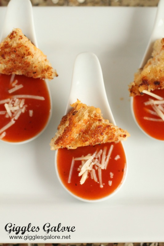 Tomato Soup and Grilled Cheese Appetizer