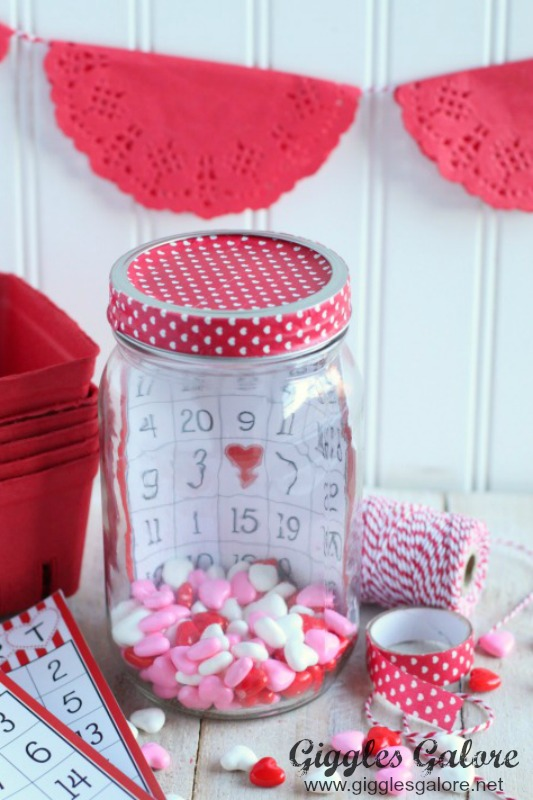 Valentine Bingo In a Jar_Washi Tape Lid