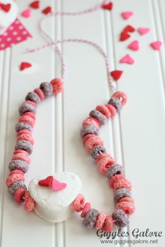 Valentine Marshmallow Necklace