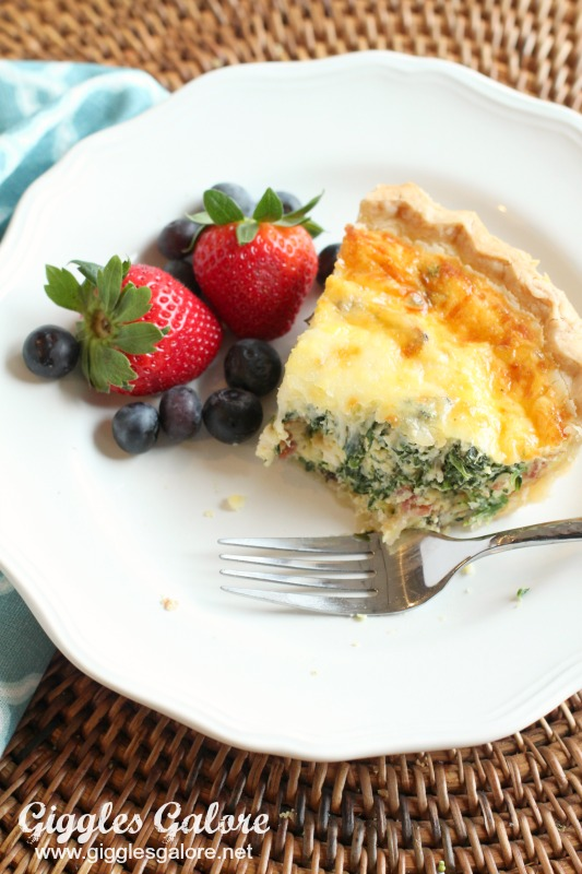 Bacon Spinach Mushroom Quiche_Dig In