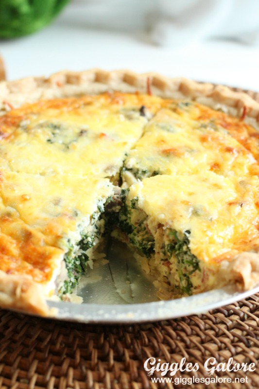 Bacon Spinach Mushroom Quiche_Inside