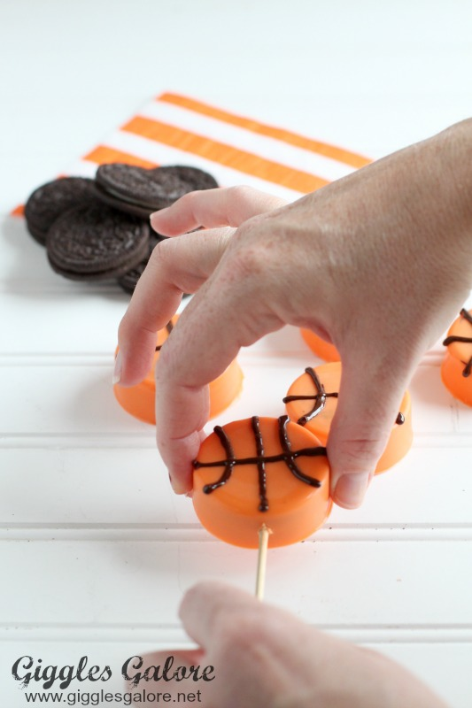 Basketball OREO Cookies on Skewer