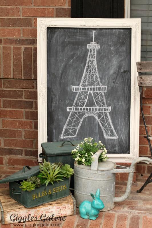 Chalkboard Eiffel Tower