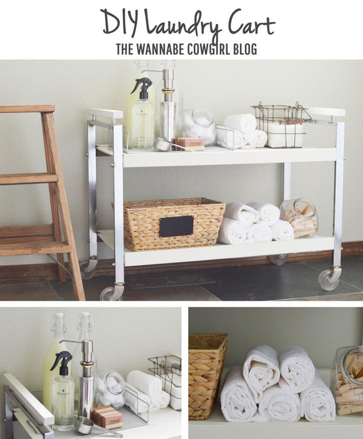 DIY Laundry Cart