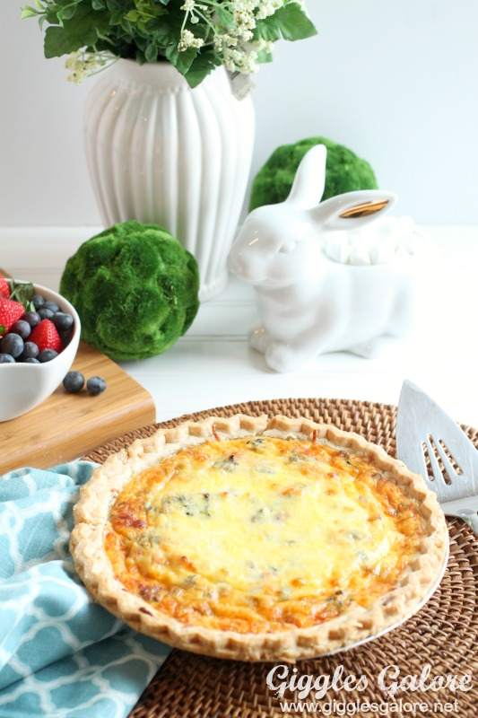 Easter Bacon Spinach Mushroom Quiche