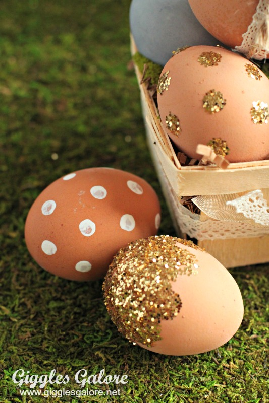 Glittered Easter Egg