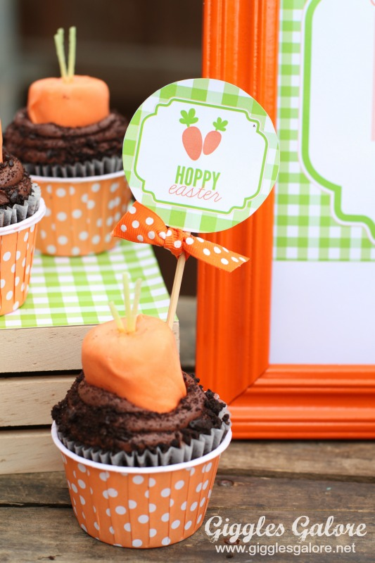 Hoppy Easter Carrot Cupcake