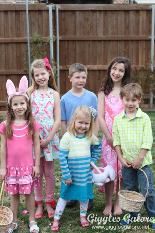 Kids at Easter Egg Hunt Party