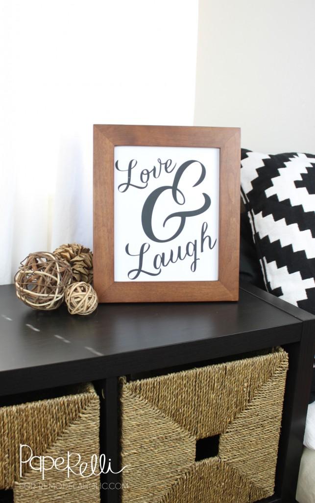 Love and Laugh Print