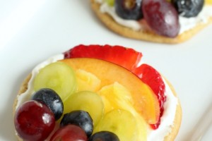 Mini Rainbow Fruit Cookie Pizza