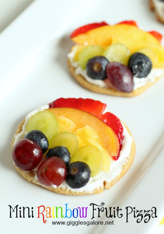 Mini Rainbow Fruit Pizza_Giggles Galore