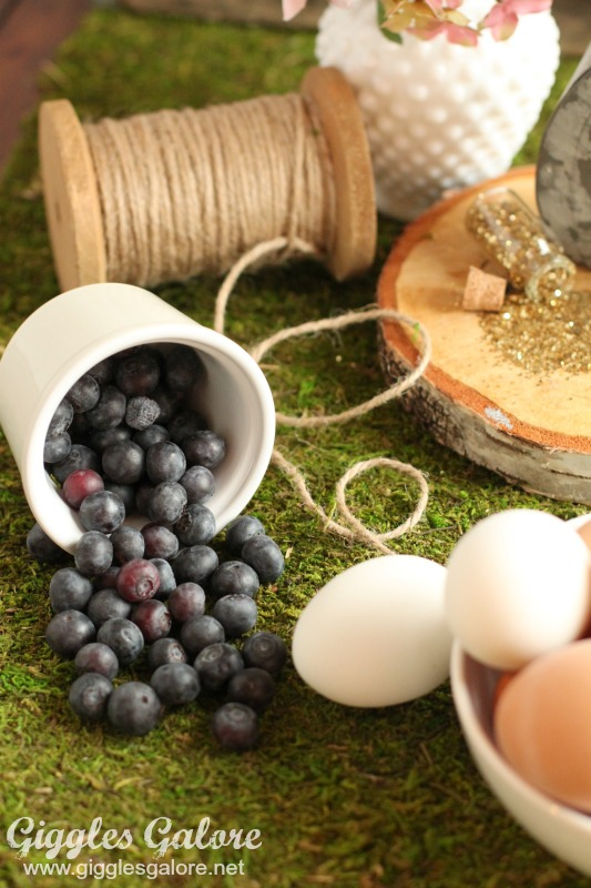 Natural Easter Eggs Blueberries