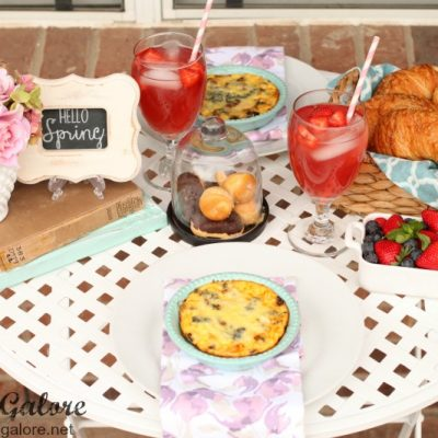Paris Inspired Springtime Brunch