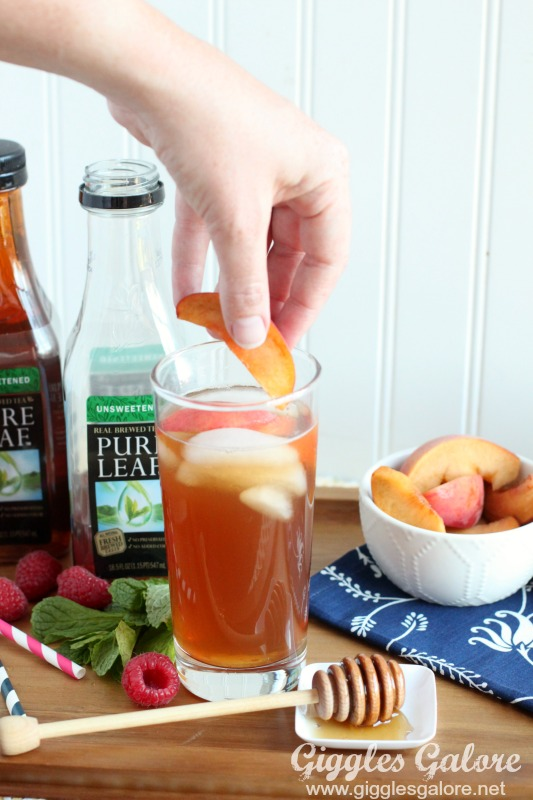 Peach Tea_Fresh Peach Slices