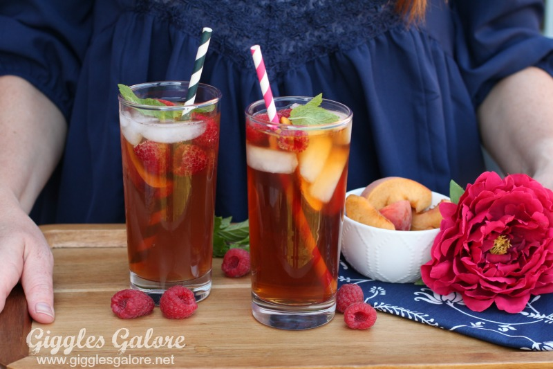 ... perfect peach tea with peach nectar, found in the juice aisle, honey