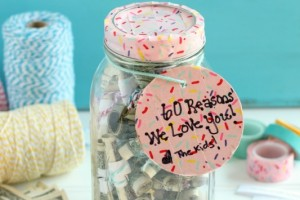 Birthday Money Jar Gift Idea