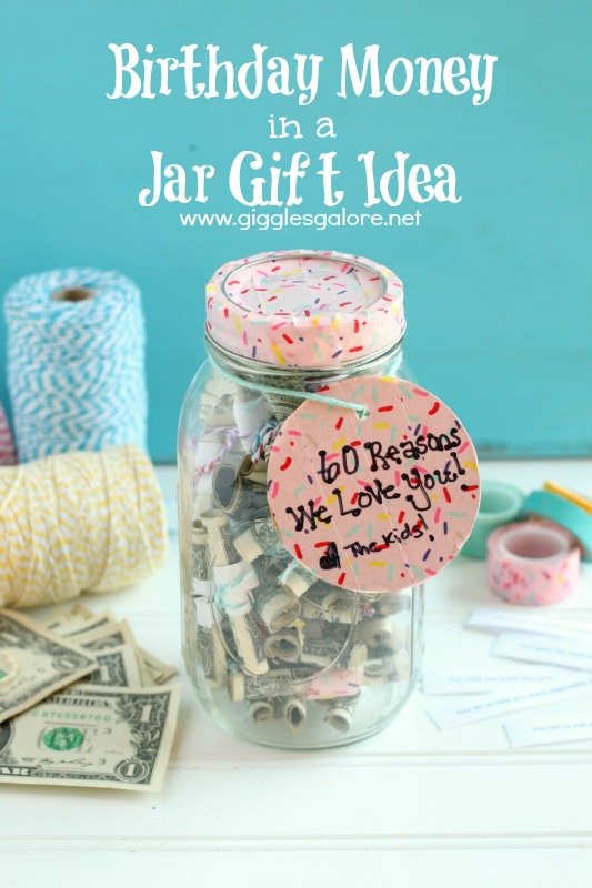 Birthday Money In a Jar Gift Idea_Giggles Galore