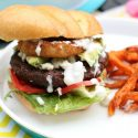 Blue Cheese Buffalo Burger_Giggles Galore