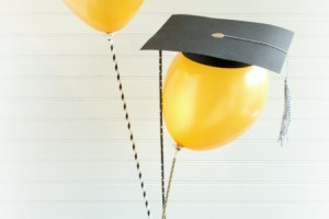 DIY Graduation Balloon Gift Idea Giggles Galore