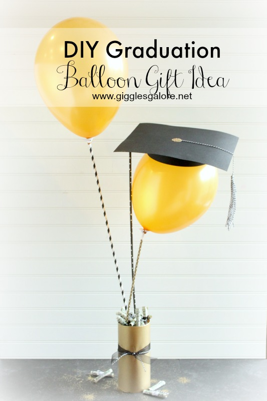 DIY Graduation Balloon Gift Idea