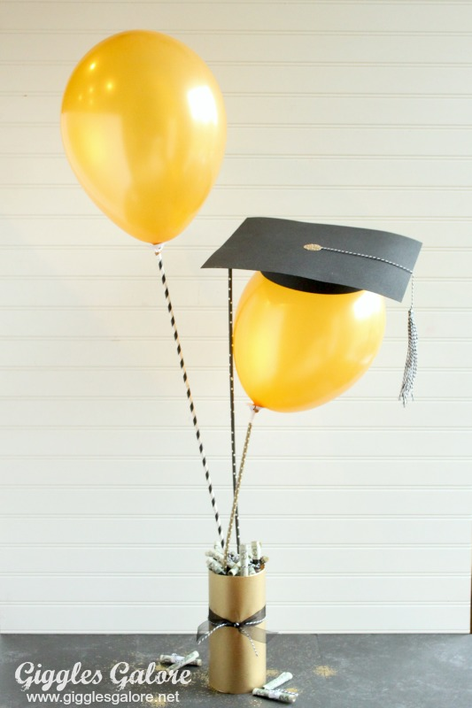 DIY Graduation Balloon Gift Idea_Giggles Galore