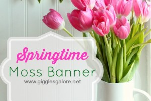 Giggles Galore Springtime Moss Banner