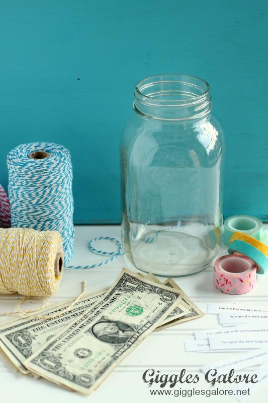 Money Jar Birthday Gift Idea Reasons Why We Love You
