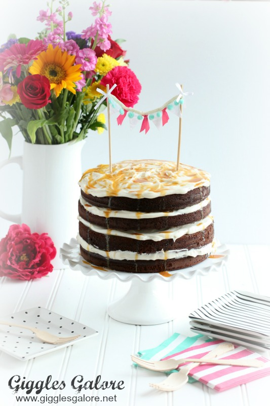 Salted Caramel Frosted Chocolate Cake