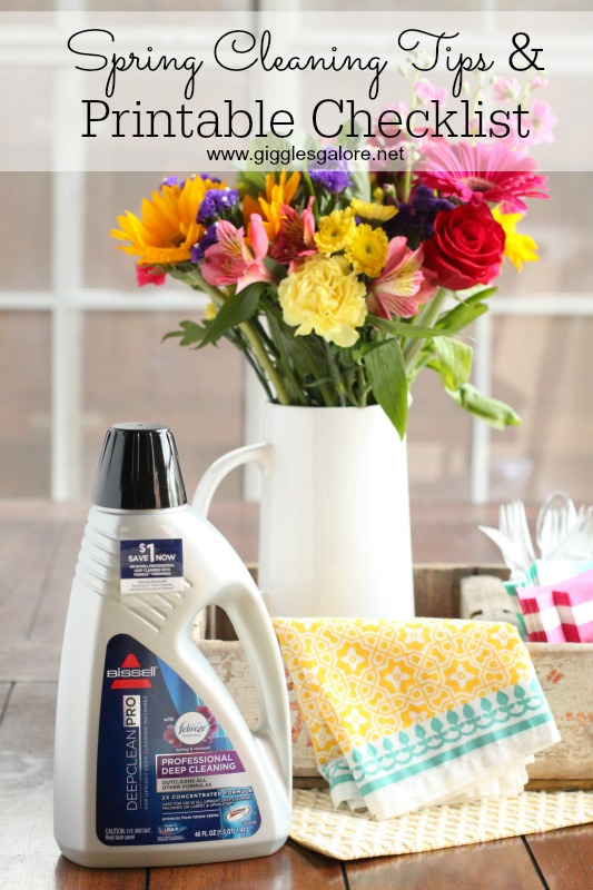 Spring Cleaning Tips and Printable Checklist_Giggles Galore