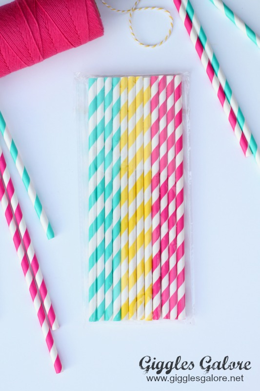 Striped Straws Teacher Gift_Giggles Galore