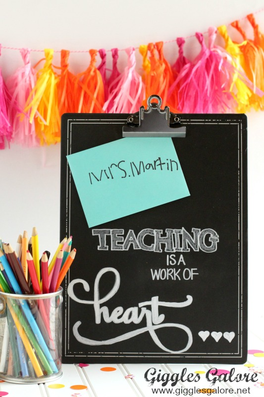 Teaching is a Work of Heart Teacher Gift