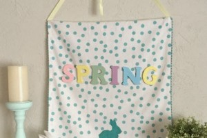 diy spring wall hanging