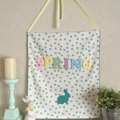 DIY Spring Wall Hanging Tutorial