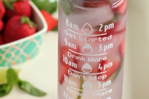 Brita Water Bottle_Strawberry Mint Lime Water