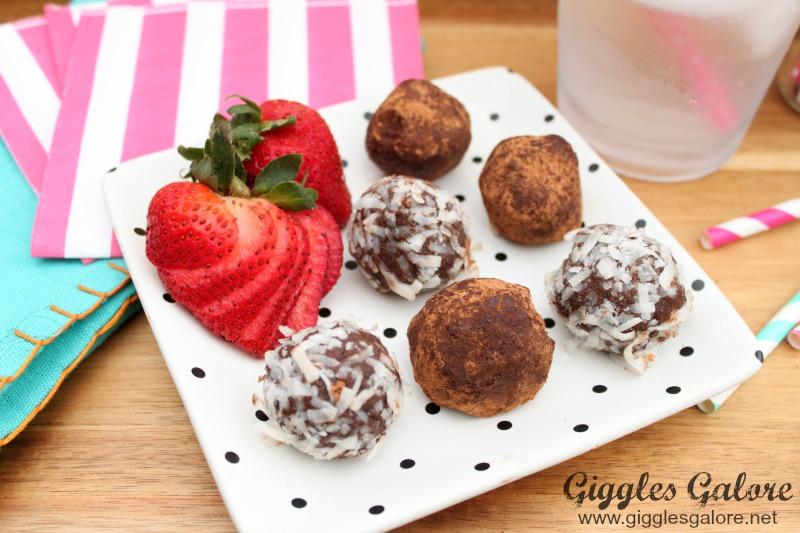 Chocolate Avocado Truffles with coconut