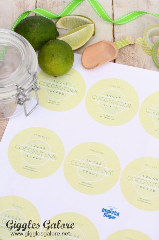 Coconut Lime Sugar Scrub Labels
