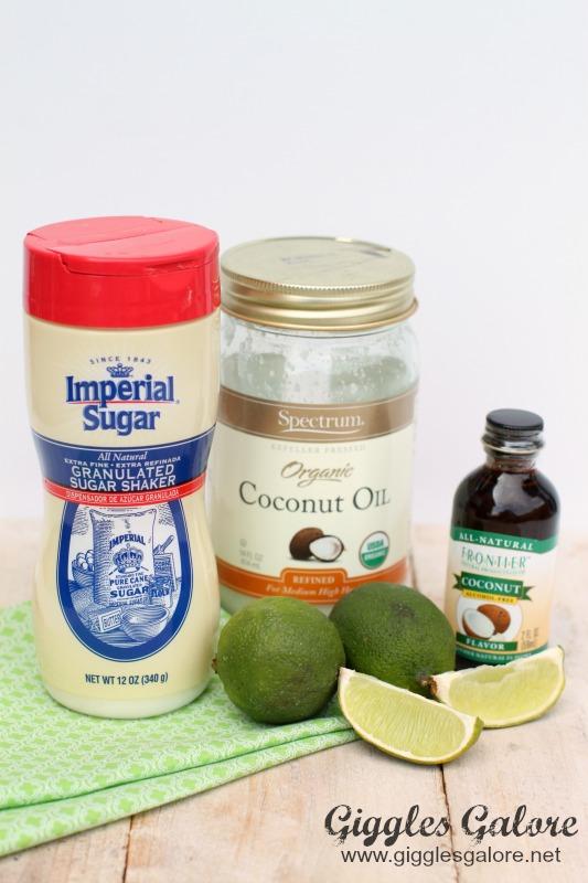 Coconut Sugar Scrub Ingredients