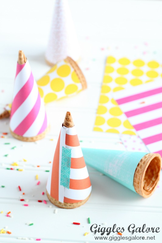 DIY Wrapped Ice Cream Cones
