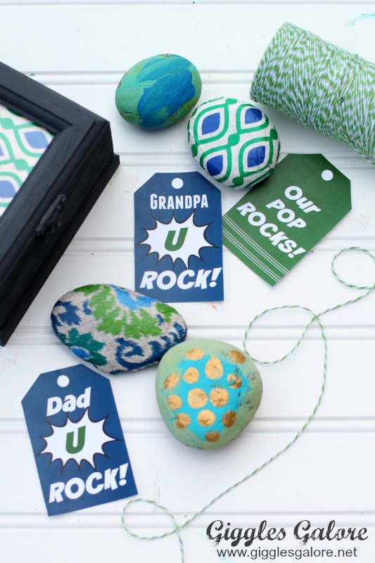 Dad You Rock Printable Tags