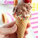 Dipped Sprinkled Cones_Giggles Galore