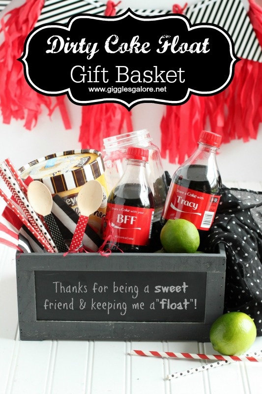 Dirty Coke Float Gift Basket by Giggles Galore